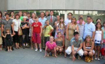 Sant Cugat rep els nens russos que passen l'estiu a la ciutat