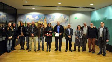 L'Ajuntament reconeix la tasca de l'expresident de Geganters, Pere Royo