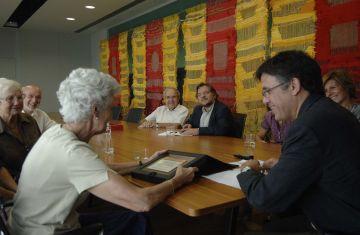 Rebuda a l'ajuntament a la nova directiva del Casal d'Avis de Valldoreix