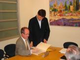 L'alcalde ha rebut a l'Ajuntament el nou rector de la UPC, Antoni Giró