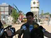 Recoder durant una visita a la comissaria dels Mossos en construcció