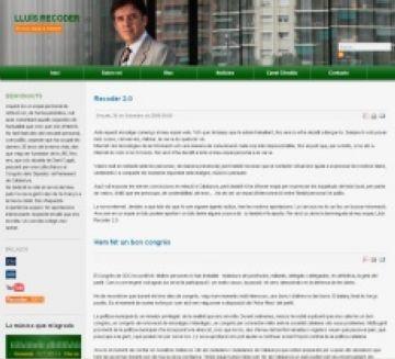 Lluís Recoder promou la seva figura política amb la publicació d'un llibre i amb una nova web