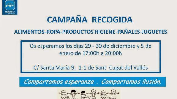 El PP inicia una campanya de recollida de productes per a Càritas i Creu Roja