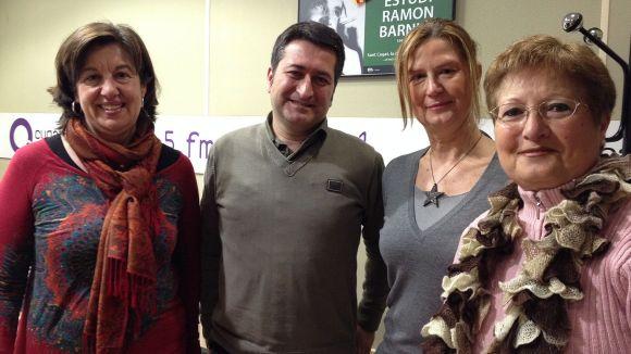 Isabel Riera, Roger Valls, Maria José Arévalo i Mary Carmen Sánchez (d'esquerra a dreta), a Cugat.cat
