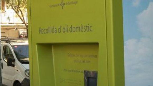 Durant el 2012 s'ha doblat l'oli domèstic recollit a la ciutat