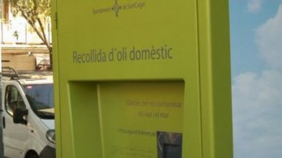 Nou servei de recollida d'oli usat, amb màquines a vuit punts del municipi