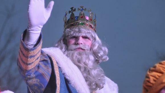 El Rei Melcior durant la cavalcada / Font: Localpress