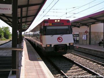 La linia 7 de Renfe ofereix serveis mínims per la vaga d'aquest dimecres