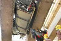 Un accident a l'AP-7 obliga a tallar el trànsit de trens de la C-7 de Renfe