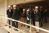 L'alcalde ha visitat avui les obres de la nova residència.