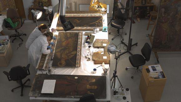 El CRBMC restaura el retaule barroc de Sant Esteve