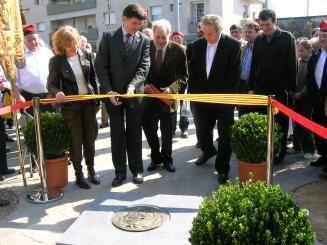 L'acte de restitució del monument s'ha emmarcat dins els actes de celebració dels 125 anys de la Societat Coral La Lira