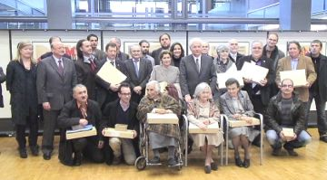 Entitats i particulars celebren el retorn dels primers 'papers de Salamanca' de particulars