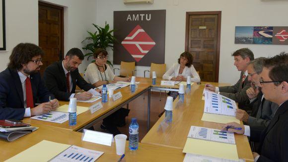 Moment de la reunió amb el conseller / Font: Toni Torrillas
