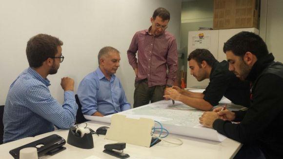 Moment de la reunió amb C's i ERC-MES / Foto: C's