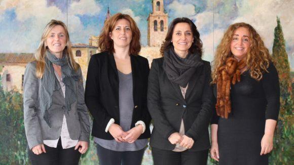 Moment de la reunió amb Atelca / Font: Premsa Sant Cugat