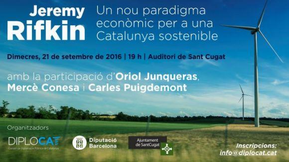 Obertes les inscripcions per assistir a la conferència de Jeremy Rifkin a Sant Cugat
