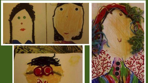 L'activitat proposa crear autoretrats a partir d'elements propis del tèxtil / Foto: Santcugat.cat