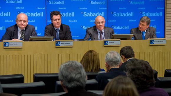 Roda de premsa de presentació dels comptes / Font: Banc Sabadell