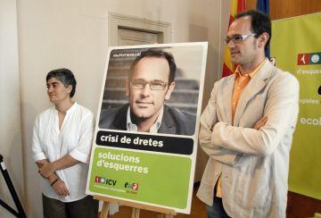 Romeva (ICV): 'El lema és clar. La política de dretes és la causa de l'actual crisi'