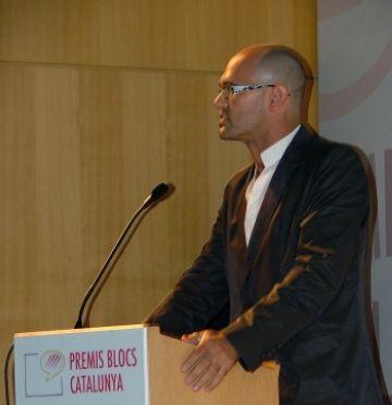 L'eurodiputat santcugatenc Raül Romeva, guardonat pel seu bloc personal