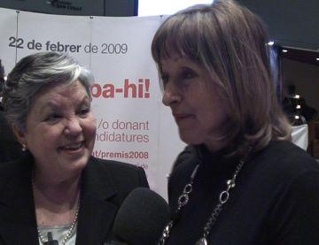 Isabel Martínez, a l'esquerra, i Rosalina Sicart, a la dreta