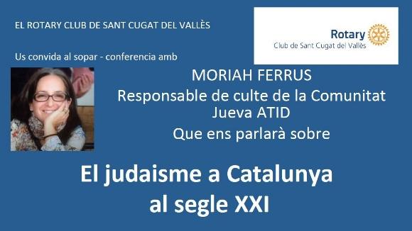 Sopar-conferència: 'El judaisme a Catalunya al segle XXI'