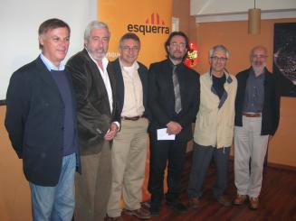 Solà, Nicolau, Alexandre, Grangé, Pedró i Pros (d'esquerra a dreta)