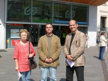 ICV-EUiA ha presentat les seves propostes davant l'estació dels FGC