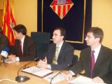 Han presentat la sessió Recoder, Jordi Joly, Josep Maria Vallès del diari i un representant de Deustche Bank.