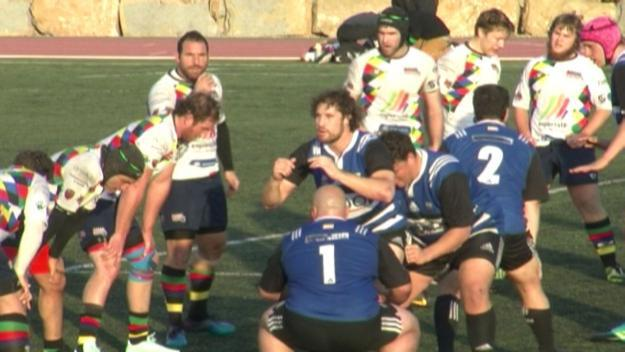 El Rugby Sant Cugat pateix per endur-se el triomf davant un Barbarians molt lluitador