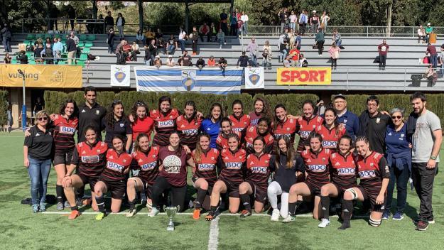 Les jugadores santcugatenques del Rugby Sant Cugat / Foto: Rugby Sant Cugat