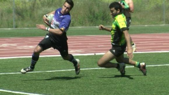 El Club Rugby Sant Cugat passa per sobre d'un pobre Atlético Portuense i és més líder