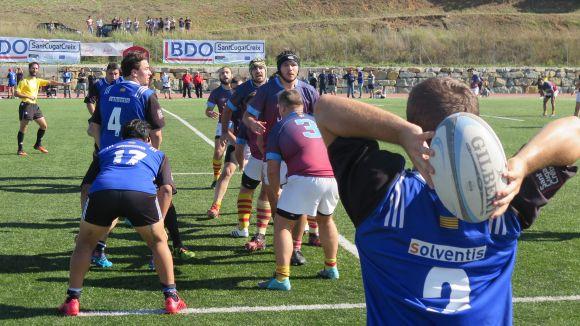 Duel entre el Rugby Sant Cugat i la Santboiana de la passada temporada