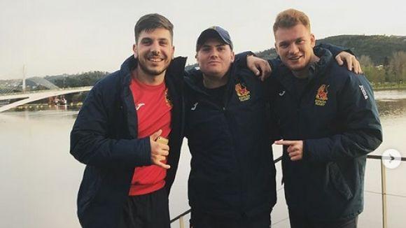 Jorge Ortiz (esquerra) en una concentració amb la selecció espanyola / Font: ferugby