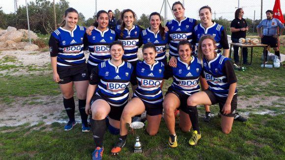 El femení del Rugby Sant Cugat es proclama campió de Catalunya de rugbi Seven
