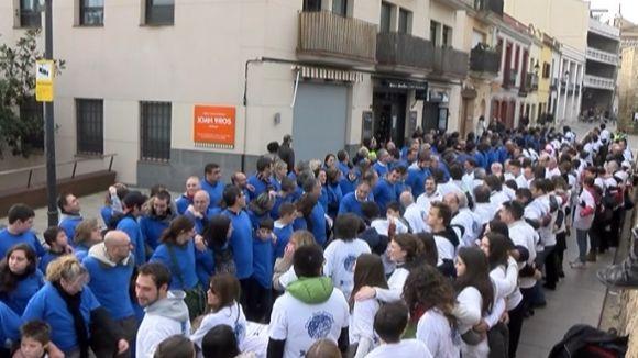 La Melé de la 'Marató de TV3' del Rugby Sant Cugat ha reunit 901 participants