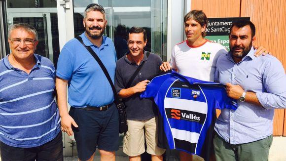 El segon per la dreta és Toni Contreras i José Aguilera a continuació / Font: Rugby Sant Cugat