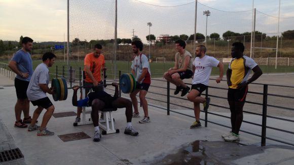 El Rugby Sant Cugat inicia la pretemporada amb un intens treball físic