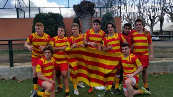 La selecció catalana sub 18, amb representants del Rugby Sant Cugat, s'endú el Campionat d'Espanya