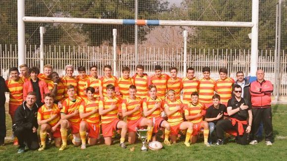 La selecció sub 16 catalana de rugbi guanya l'estatal amb vuit jugadors del Rugby Sant Cugat