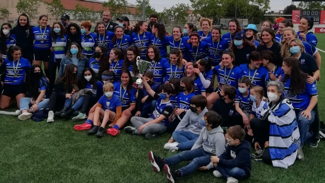 El femení del Rugby Sant Cugat competirà a la Divisó d'Honor per primera vegada / Foto: Cugat Mèdia