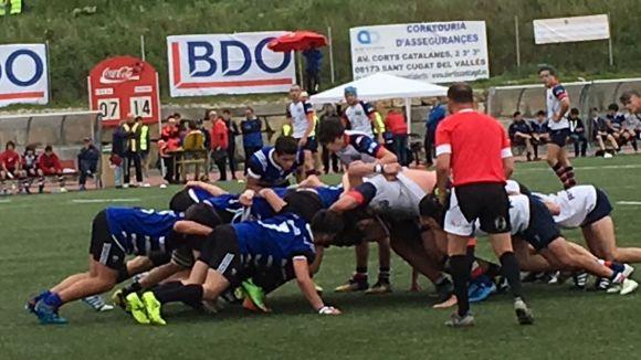 Instant d'un partit del Rugby Sant Cugat