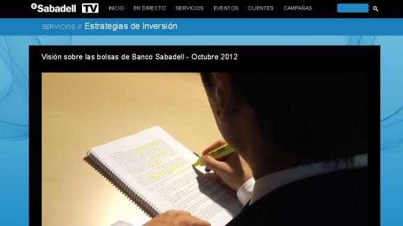 Banc Sabadell obre un canal de televisió per internet
