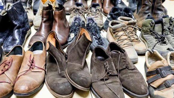 L'Església Protestant de Valldoreix recull més de 1.000 sabates per a refugiats