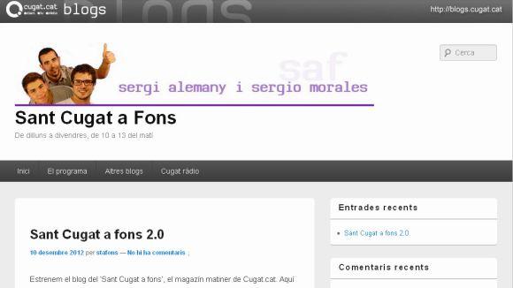 Cugat.cat estrena una secció de blogs dels programes radiofònics