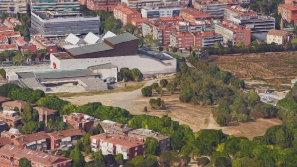 Espai on es construirà la sala polivalent / Foto: Google Maps 3D
