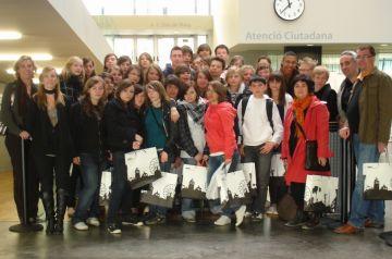 Rebuda a l'ajuntament a estudiants d'intercanvi d'una escola francesa