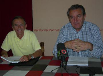 Manel Sánchez i Jaume Massanés durant la roda de premsa