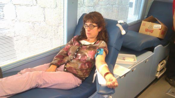 Una vuitantena de santcugatencs donen sang aquest dissabte